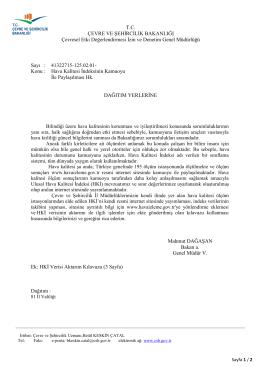 Ek: HKİ Verisi Aktarım Kılavuzu (3 Sayfa)