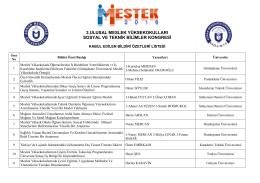 3.ulusal meslek yüksekokulları sosyal ve teknik bilimler kongresi