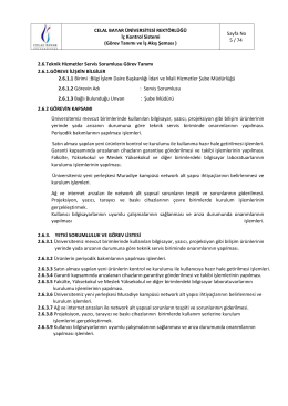 Teknik Destek Hizmetleri - Celal Bayar Üniversitesi