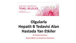 Olgularla Hepatit B Tedavisi Alan Hastada Yan Etkiler