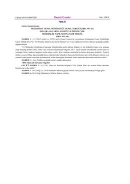 06.02.2016-Muhasebat Genel Müdürlüğü Genel Tebliği (Sıra No:48)