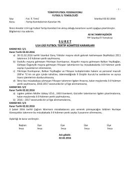 u14 tertip komitesi kararı