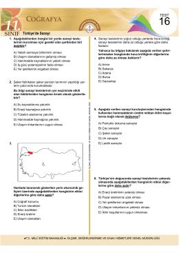 Türkiye`de Sanayi - Ölçme, Değerlendirme ve Sınav Hizmetleri