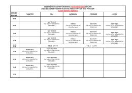 Spor Yöneticiliği Bölümü - Beden Eğitimi ve Spor Yüksekokulu