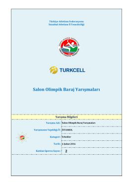 Deneme Yarışma Sonuçları - Türkiye Atletizm Federasyonu