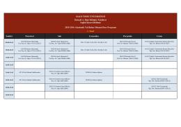 2015-2016 Bahar Dönemi Sağlık İdaresi Bölümü Lisans Ders