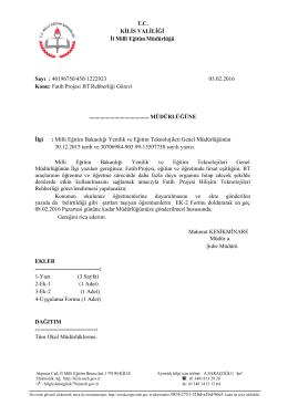 meb_iys_dosyalar/2016_02 - Kilis Milli Eğitim Müdürlüğü