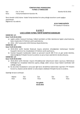 u19 tertip komitesi kararı