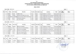 Sınav programının pdf format için tıklayınız.
