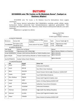 DUYURU - Aksaray Milli Eğitim Müdürlüğü