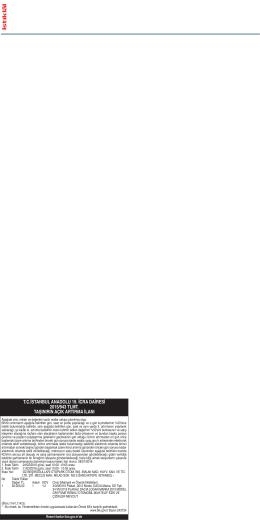 tcistanbul anadolu 19. icra dairesi 2015/943 tlmt. taşınırın