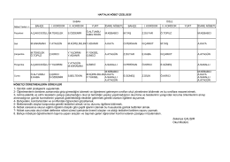 08/02/2016 tarihinden itibaren geçerli olacak okul nöbet listesi
