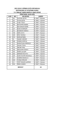 8/f liste - BARTIN / MERKEZ