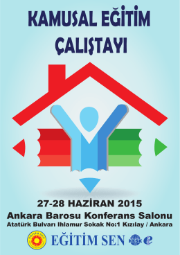 27-28 HAZİRAN 2015 Ankara Barosu Konferans Salonu