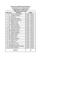 5/f liste - BARTIN / MERKEZ