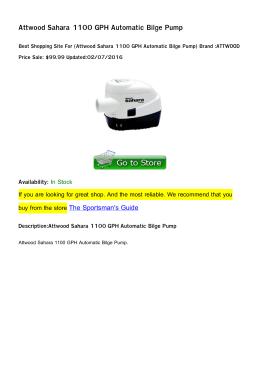 Attwood Sahara 1100 GPH Automatic Bilge Pump