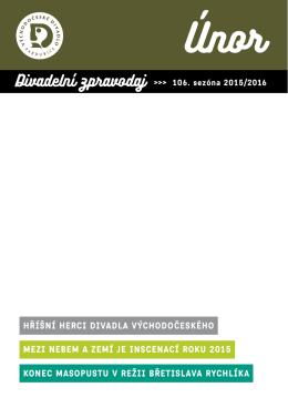 zPravoDaJ únor 2016 - Východočeské divadlo Pardubice