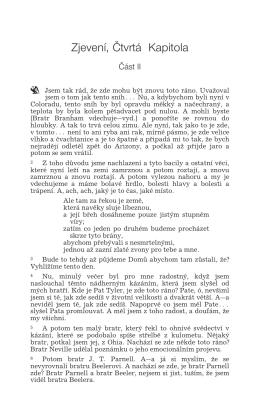 CZH61-0101 Zjevení, Čtvrtá Kapitola Část II VGR
