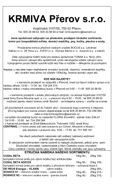KRMIVA Přerov s.r.o.