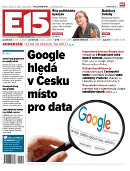 Google hledá v Česku místo pro data