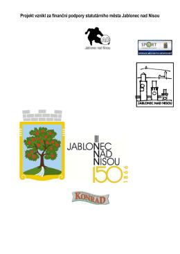 Projekt vznikl za finanční podpory statutárního města Jablonec nad