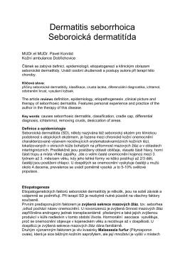 Článek ke stažení - Dermatitis seborrhoica