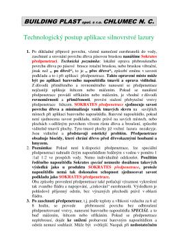 Technologický postup lazury 2.