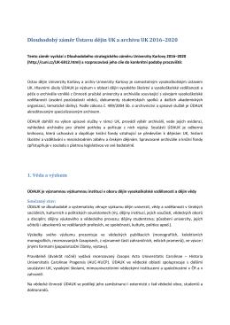 defin dz udauk 2016_2020_vr - Ústav dějin Univerzity Karlovy a