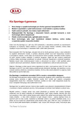 Podrobné informace o novém modelu Sportage 2016
