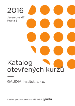 Odkaz - Psychoterapeutické centrum Gaudia