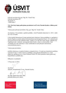 Policejní prezident brig.gen. Mgr. Bc. Tomáš Tuhý Policejní
