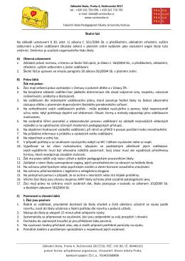 Školní řád platný od 1. 9. 2015