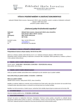 Vyzva k podani nabidky_zadavaci dokumentace