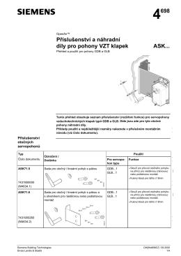4698 P ísluăenství a náhradní díly pro pohony VZT klapek