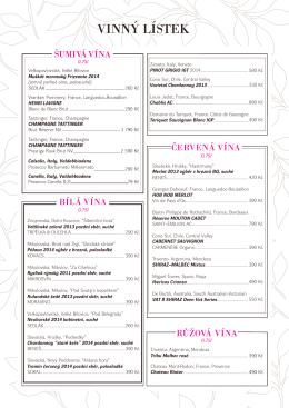 Vinný lístek | Wine list