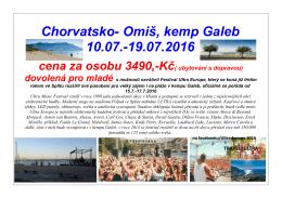 Leták Chorvatsko, Omiš