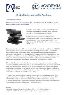 50. výročí existence značky Academia