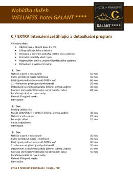 C / EXTRA Intenzivní zeštíhlující a detoxikační program