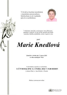 Marie Knedlová