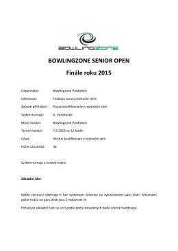 BZ finále - BOWLINGZONE
