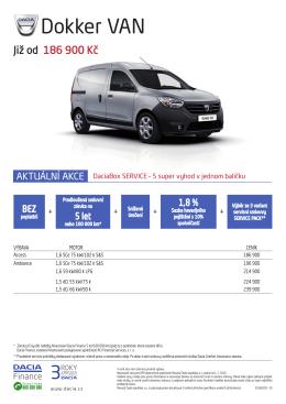 Ceník - Dacia Česká republika