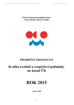 ROK 2015 - Český hydrometeorologický ústav