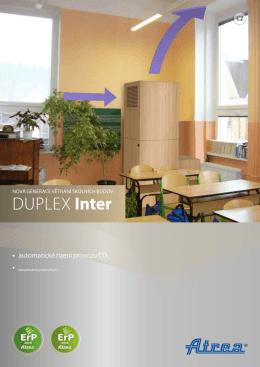 patentované zařízení DUPLEX INTER 720