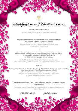 Valentýnské menu / Valentine´s menu