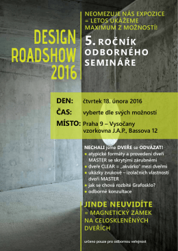 DESIGN ROADSHOW 2016