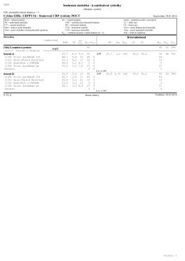 Cyklus EHK: CRPP1/16 - Stanovení CRP systémy POCT