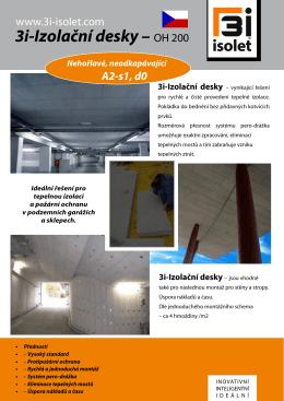3i-Izolační desky – OH 200 - 3i