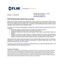 FLIR TG130 pomáhá snižovat účty za energie