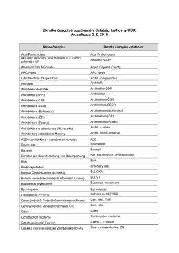 Použité zkratky v názvech časopisů k 5. 2. 2016