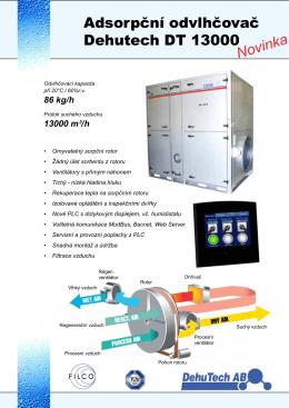 Sorpční odvlhčovač DT13000